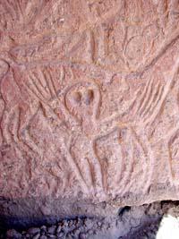 Petroglifo con Marcianos