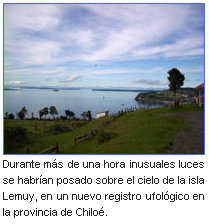 Avistan Ovnis en Chiloé